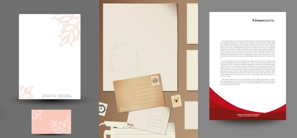 Berühmt Briefpapier kreativ und professionell gestalten leicht gemacht &ID_21