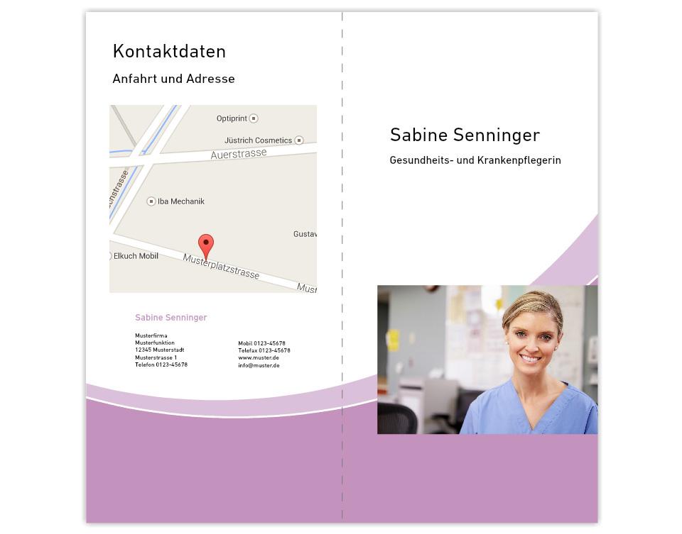 portrait of female nurse monkey business images - Flyer Bewerbung