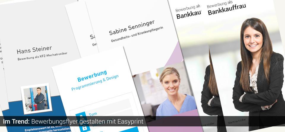 Bewerbungsflyer Vorlagen Einfach Erstellen Easyprint Blog