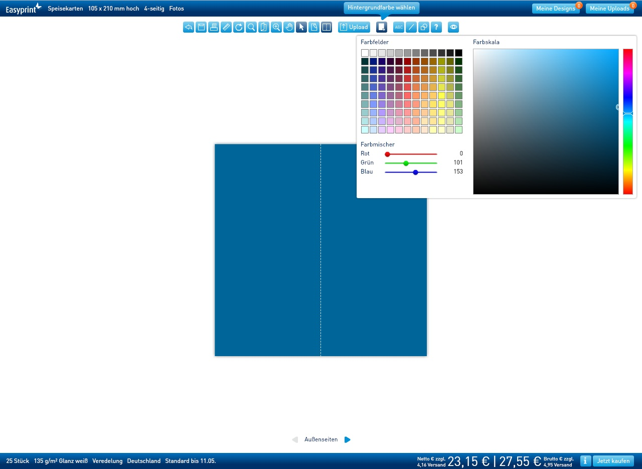 Speisekarten Erstellen Mit Online Tool Freedesign Easyprint Blog