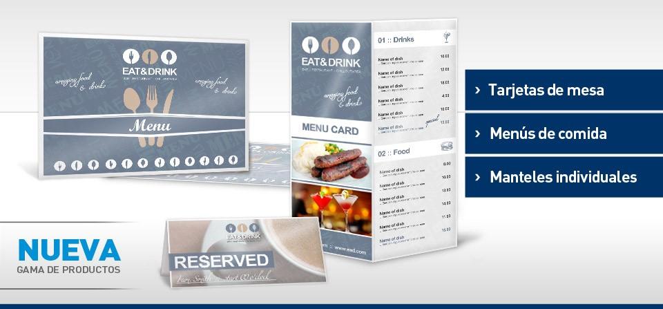 Nuevos productos! Tarjetas de mesa, menús de comida y manteles ...